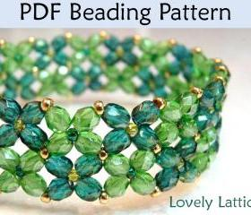 Beading Tutorial Pattern Bracelet - Beginner Jewelry Making - Simple Bead Patterns - Lovely Lattice #1133