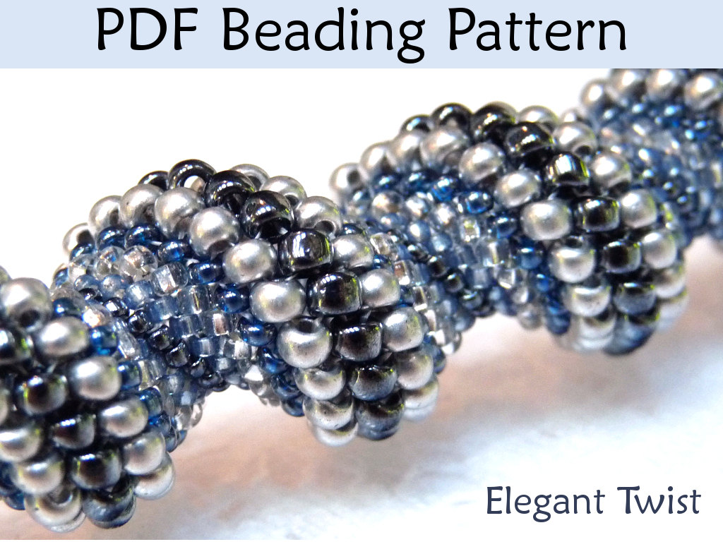 Beading Tutorial Bracelet Necklace - Tubular Peyote Stitch - Simple Bead Patterns - Elegant Twist #438
