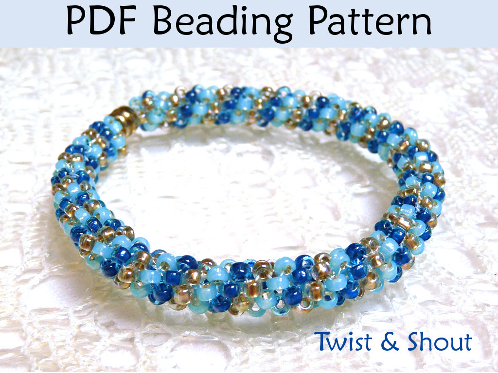 beading tutorial pattern bracelet necklace tubular