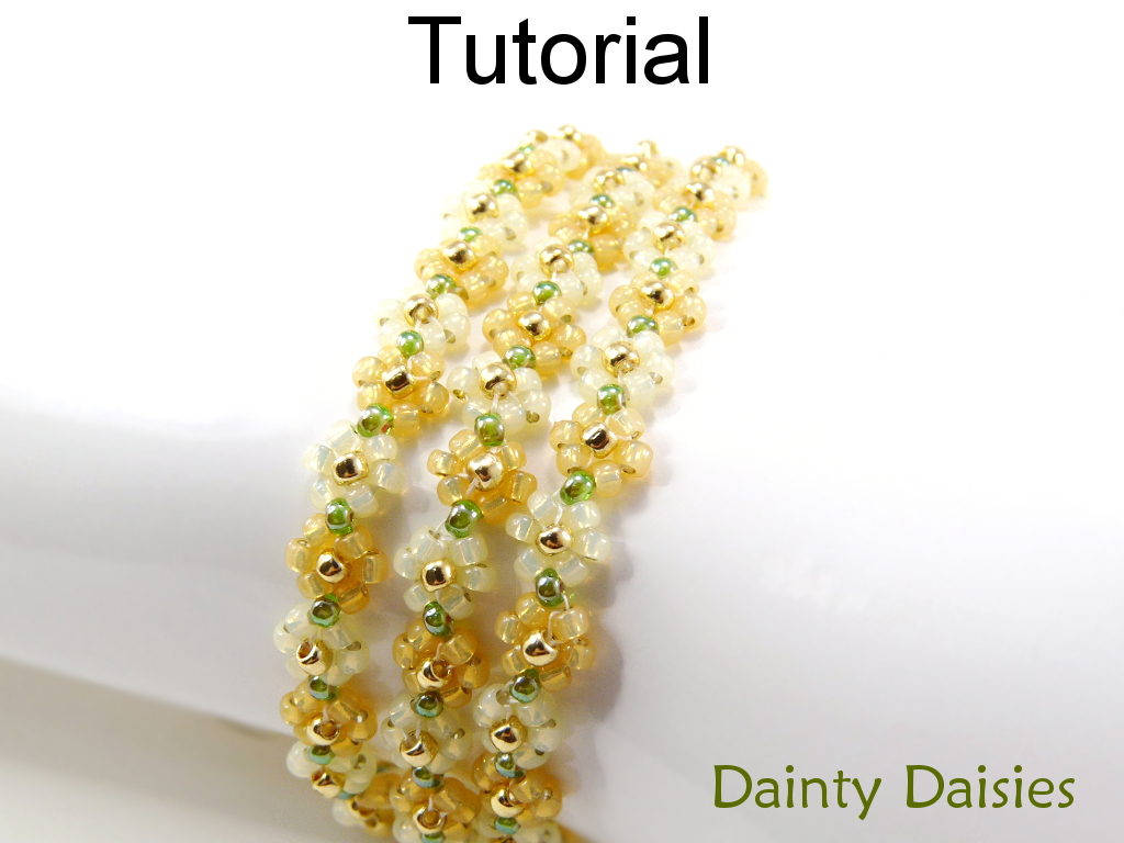 Case Design flower phone cases : Beading Tutorial Pattern Bracelet Necklace - Daisy Chain Stitch ...