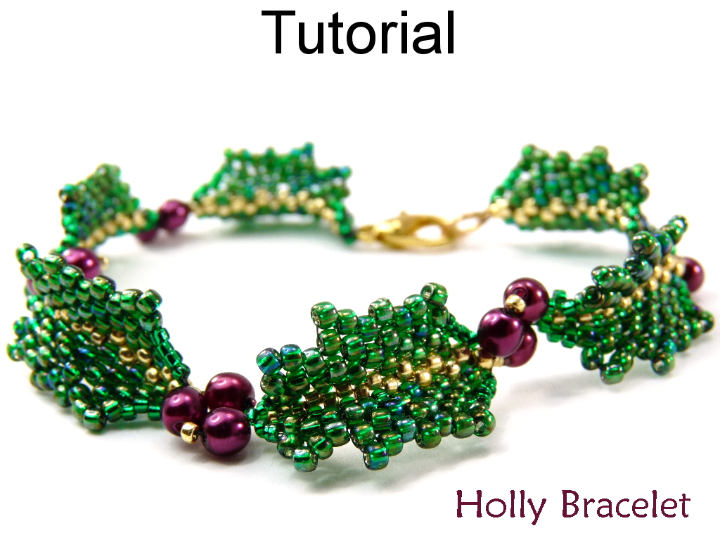 Beading Tutorial Pattern Christmas Bracelet Peyote