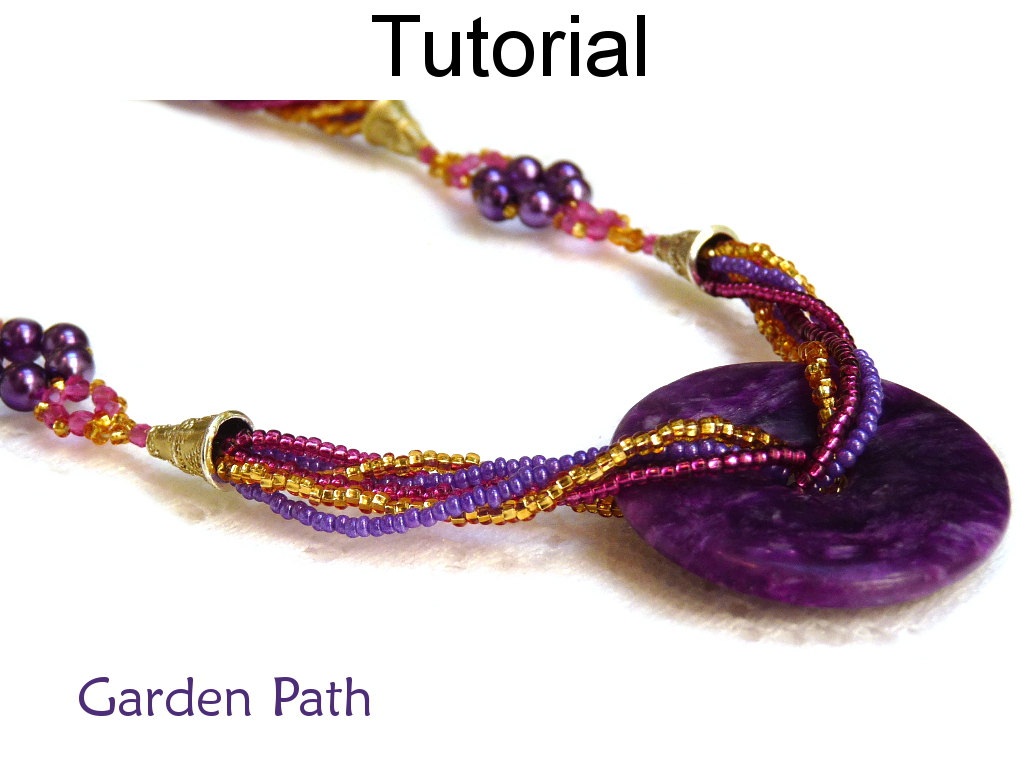 beading tutorial pattern necklace multi strand beaded On simple beaded jewelry patterns