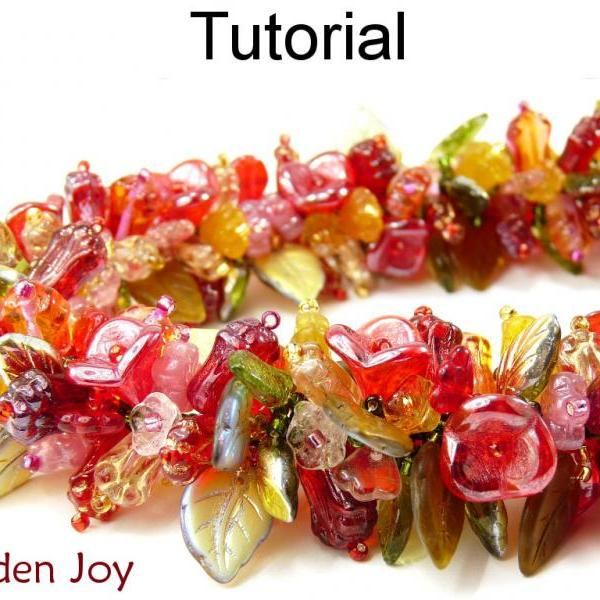 Beading Tutorial Pattern Bracelet Necklace - Fringe Stitch - Simple Bead Patterns - Garden Joy #1707